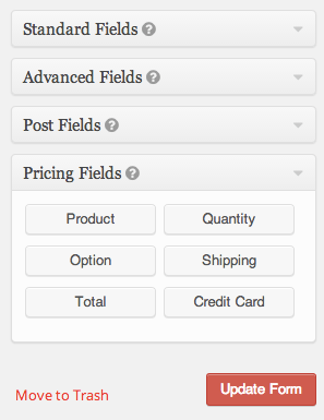 Gravity Forms eCommerce | Pricing Fields