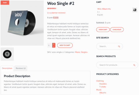 Best WooCommerce Themes | Hub Single Product Page