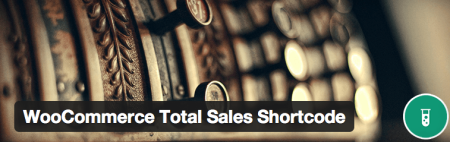 Free WooCommerce extensions | total sales shortcode