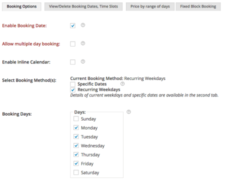 Booking Appointment setup