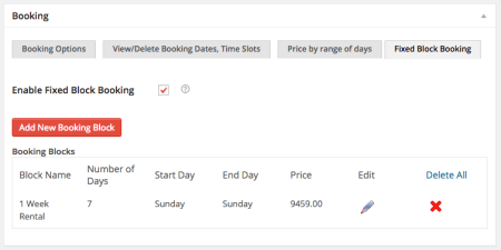 WooCommerce Booking & Appointment plugin Enable Fixed Block