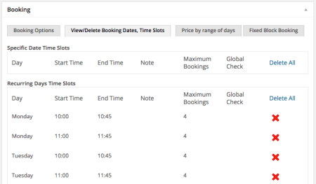 WooCommerce Booking & Appointment plugin Manage / View time slots