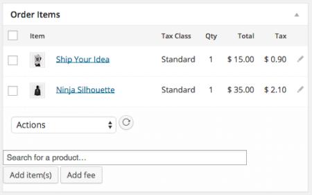 WooCommerce 2.1 Order Details