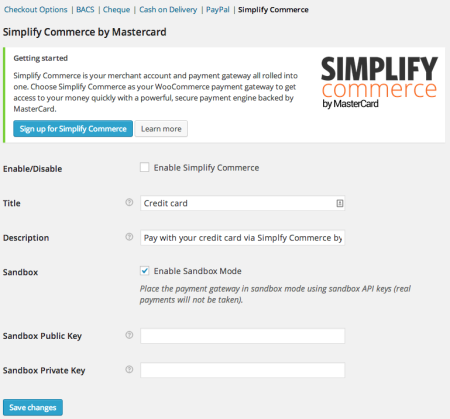 WooCommerce 2.2 Simplify Commerce