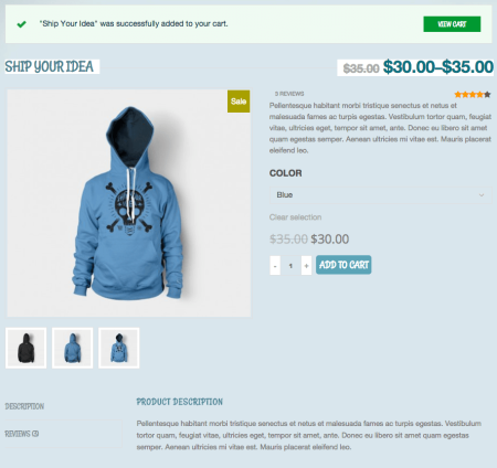 Kidshop Product page
