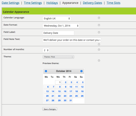 WooCommerce Order Delivery Date plugin review |  appearance