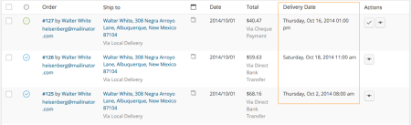 WooCommerce Order Delivery Date plugin review | orders view