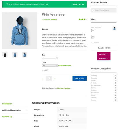 Storefront Best free WooCommerce theme | product page