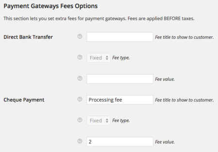 WooCommerce Jetpack Gateway fees