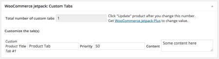 WooCommerce Jetpack Product Tab