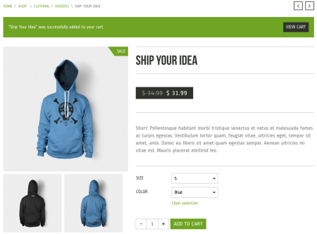 Best WooCommerce themes | Crux review:  product page