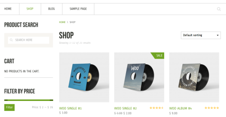 Best WooCommerce themes | Crux review: shop page