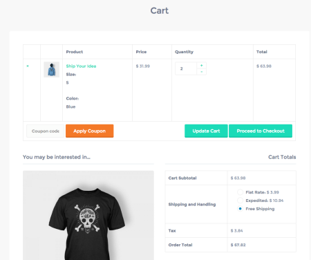 Best WooCommerce themes | Listify review: cart