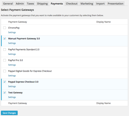 WP eCommerce 3.9 Review payments