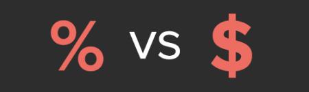 Percentage vs flat rate commissions