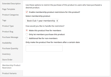 iThemes Exchange Purchasing Club:  product restrictions 2