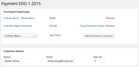 Easy Digital Downloads 2.3 Review | 2.2 order details
