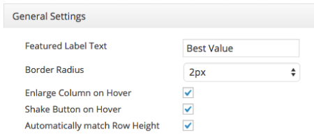 more easy pricing tables design settings