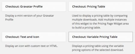 Checkout Marketplace Theme | widgets