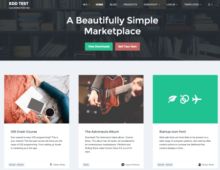 Checkout Marketplace Theme | homepage