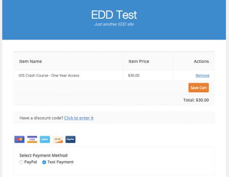EDD Vendd Review: Checkout