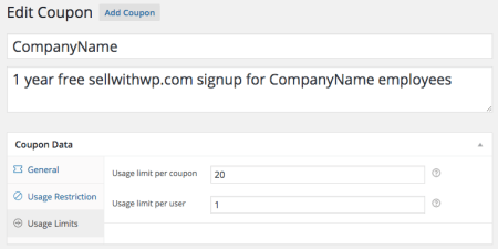 Group Memberships with WooCommerce: coupon limit