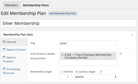 Group Memberships with WooCommerce: plan expires