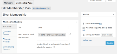 Group Memberships with WooCommerce: membership plan