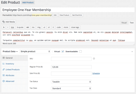 Group Memberships with WooCommerce: group product