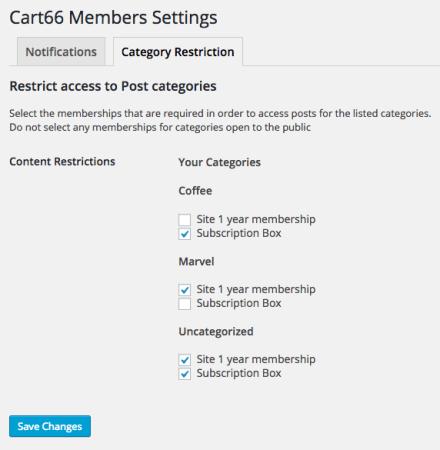 Cart66 Cloud Review: restrict categories