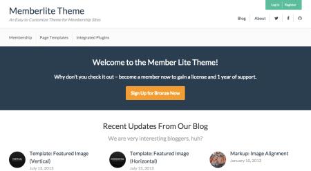 Paid Memberships Pro Memberlite theme