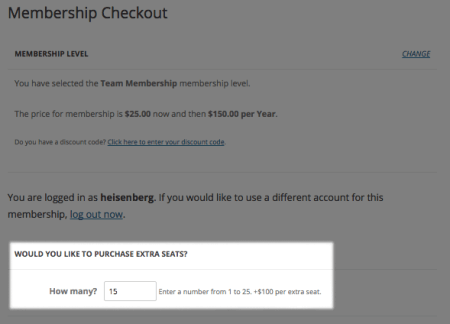 Paid Memberships Pro purchase sponsored memberships