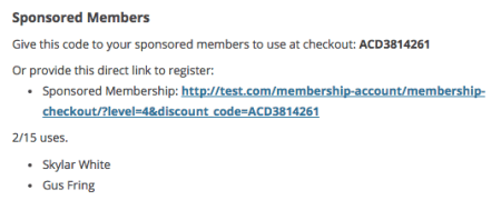 Paid Memberships Pro child members