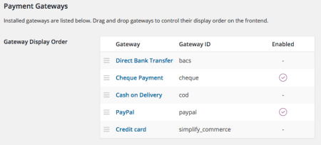 WooCommerce 2.4 Review: 2.4 payment methods