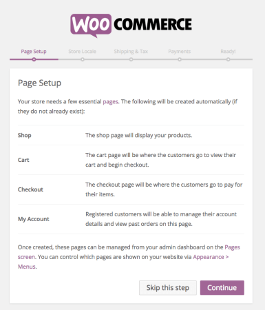 WooCommerce 2.4 Review: wizard step 2