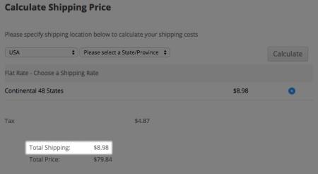 WP eCommerce cart