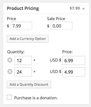 WP eCommerce quantity discount