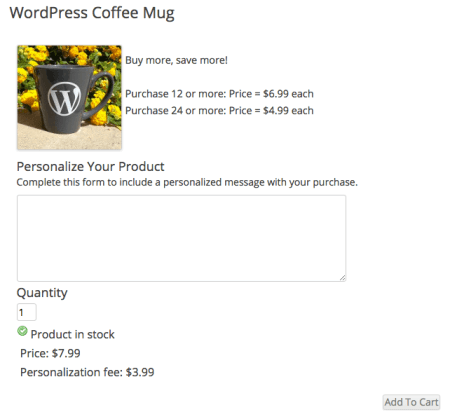 WP eCommerce updated fee label