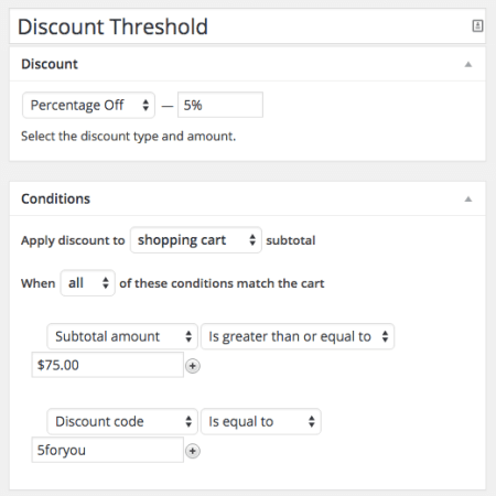Shopp Coupon Threshold