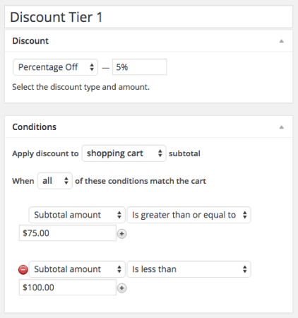 Shopp Discount tier 1