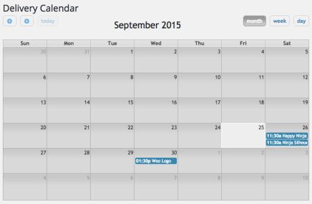 WooCommerce Order Delivery Date Pro calendar