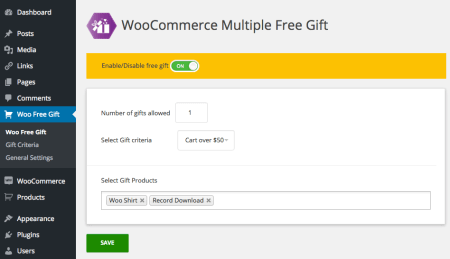 Free WooCommerce Extensions: gift creation