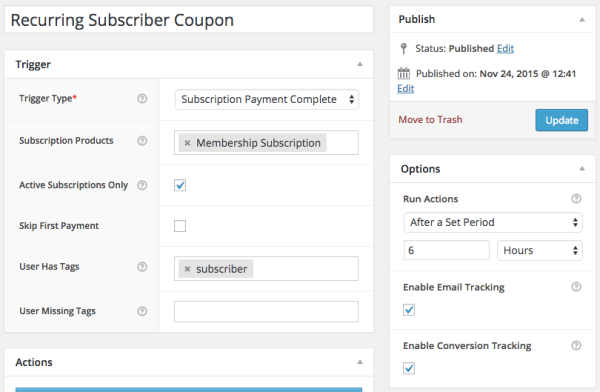 WooCommerce Subscriber Coupons: recurring email trigger