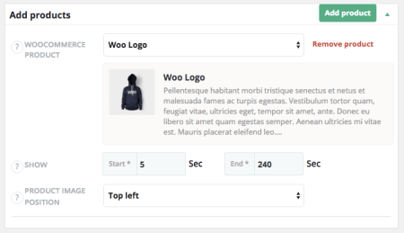 WooCommerce Shoppable Video: add products