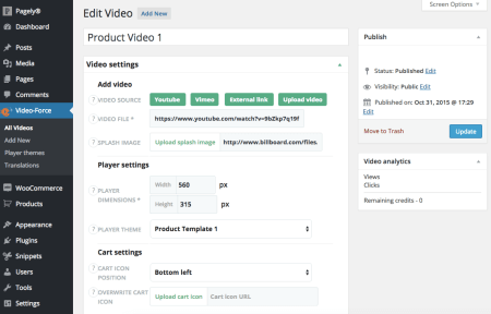 WooCommerce Shoppable Video:  create a video
