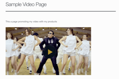 WooCommerce Shoppable Video: embedded video