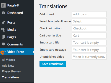 WooCommerce Shoppable Video: Text Translations