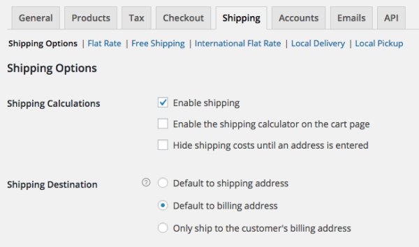 WooCommerce 2.5 Review: WC 2.5 shipping options