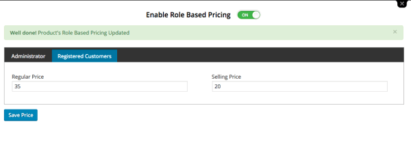edit role-based pricing