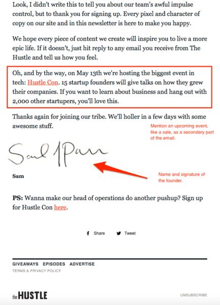 hustle part 2 newsletter confirmation
